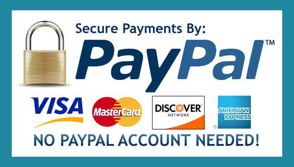 Pay by paypal or credit card